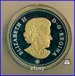 2018Kilo'Voyageur Silver Dollar' Gold-Plated Prf $1 Fine Silver Coin(18645)OOAK