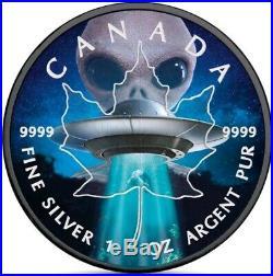 2018 1 Oz Silver $5 Canadian ALIEN N UFO Coin