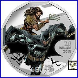2018 $20 Fine Silver Coin Justice League (TM)Batman and Aquaman (18284) (NT)