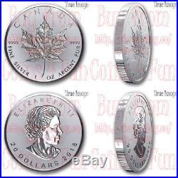 2018 30th Anniversary of SML 1 OZ $20 Pure Silver Incuse Maple Leaf Coin Canada