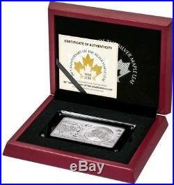 2018 3 Oz Silver $5 30TH ANNIVERSARY CANADIAN MAPLE LEAF Coin Set