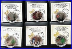 2018 $3 Thirteen Teachings Froms Grandmother Moon 11 Coins Set Pure Silver