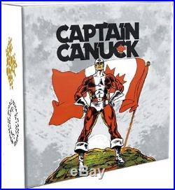 2018 CANADA $20 CAPTAIN CANUCK Rectangular 1oz. 9999 Silver Coin ARTIST SIGNED