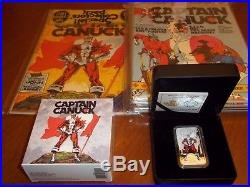 2018 Canada $20 Dollars Fine Silver Coin Captain Canuck & Issue 1 and 2 comic