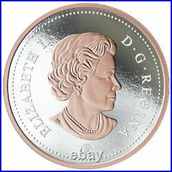 2018 Canada Coloured Silver Dollar Big Coin 5 oz. Fine Silver