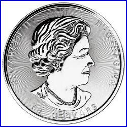 2018 Canada Magnificent Maple Leaves 10 oz. Silver $50 Coin GEM BU SKU53164