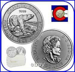 2018 Canada Polar Bear 1/2 oz Silver $2 Canadian Coin roll/tube of 20 Coins