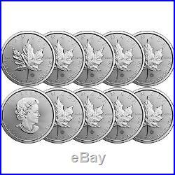 2018 Canada Silver Maple Leaf 1oz BU Coin 10pc