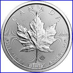 2018 Canada Silver Maple Leaf 1oz BU Coin 25pc Tube