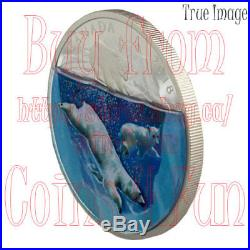 2018 Dimensional Nature Polar Bears $30 2 OZ Pure Silver Proof Coin Canada