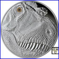 2018 Kilo'Tyrannosaurus Rex A Fierce Gaze' $250 Silver Coin. 9999Fine(18466)