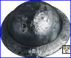 2018'Lest We Forget' Helmet-Shaped Silver Coin. 9999 Fine (18627) (NT)