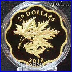 2018 Masters Club Iconic Maple Leaves $20 Scallop Pure Silver Gold-Plated Coin