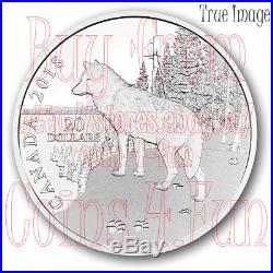 2018 Nature's Impressions Wolf 1 OZ $20 Pure Silver Coin Canada