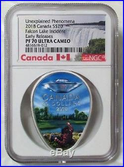 2018 PF70 Falcon Lake Incident 1oz Silver Coin-EARLY RELEASES-ULTRA CAMEO-PF 70