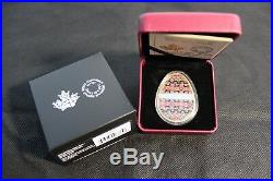 2018 Royal Canadian Mint $20 Fine Silver Coin Spring Pysanka