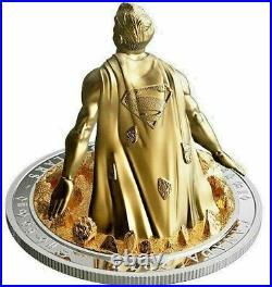 2018 Superman Last Son of Krypton 10 Oz Silver Sculpture $100 Coin Canada