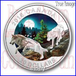 2018 The Wolf Geometry in Art 1 OZ $20 Pure Silver Proof Coin Canada
