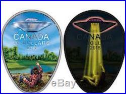 2018 UFO Falcon Lake Incident ExtraterrestrialPhenomena $20 1OZ Silver Glow Coin