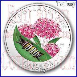 2018 Venetian Murano Glass Little Creatures Monarch Caterpillar $20 Silver Coin