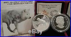 2018 Wolf Nature's Impressions Paw Prints $20 1OZ Pure Silver Proof Coin Canada