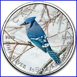 2019 1 Oz Silver $5 Canadian Wildlife BLUE JAY MAPLE LEAF Coin
