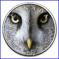 2019 1 Oz Silver $5 Canadian Wildlife SNOW OWL MAPLE LEAF Coin