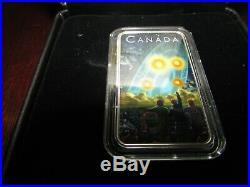 2019 & 2018 Canada $20 pure silver coins Unexplained Phenomena -Falcon Lake & Sh