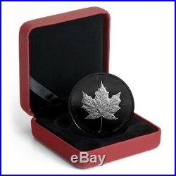 2019 2Oz Special Edition Black Rhodium-Plated Silver Maple Leaf Coin