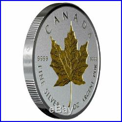 2019 40th Anniversary Gold Maple Leaf $20 1 OZ Silver Proof Incuse Coin Canada