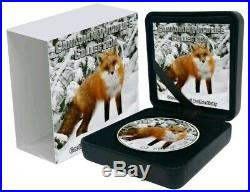 2019 $5 Canadian Maple Leaf RED FOX 1 Oz Silver Coin