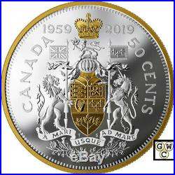 2019'60th Ann. Of the 1959 Half-Dollar' Prf Ltd. Ed. 50ct Fine Silver Coin18714