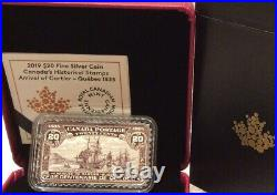 2019 Arrival Cartier Quebec1535 $20 Silver Coin 1608-1908 20-cent Canada Stamp