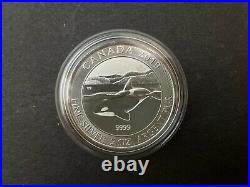 2019 Canada $10 2oz Orca Whale 2 OZ Fine Silver Bullion coin. 9999 Round