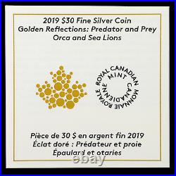 2019 Canada 2 oz Silver $30 Predator and Prey Orca and Sea Lions SKU#196774