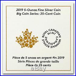 2019 Canada 5 oz Silver $1 Big Coin Series Caribou (25-Cent Coin) SKU#177988