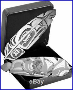 2019 Canada Eagle Feather $20 pure silver coin Northwest aboriginal art- Presale