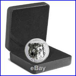 2019 Canada Multifaceted Animal Head Grizzly Bear $25 1oz Silver Coin