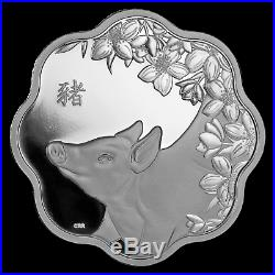 2019 Canada Silver $15 Lunar Lotus Year of the Pig Proof SKU#173427