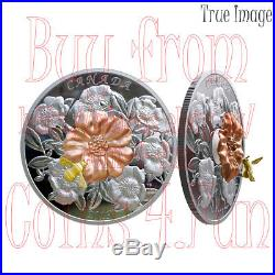 2019 Moveable Gold-Plated Bumble Bee and The Bloom $50 Pure Silver Coin Canada
