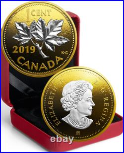 2019 Penny Big Coin Maple Leaf 1-Cent 5OZ Pure Silver Proof Classic Canada Coin