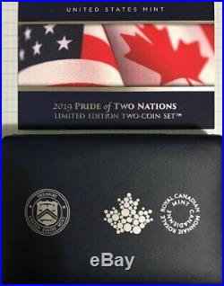 2019 Pride of Two Nations US & Canada Limited Edition Two-Coin Proof Silver Set