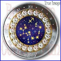 2019 Sagittarius Zodiac Series#12 $5 Pure Silver Coin withSwarovski Crystal Canada