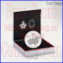 2019 Year of the Pig $15 1 OZ Pure Silver Proof Coin Canada