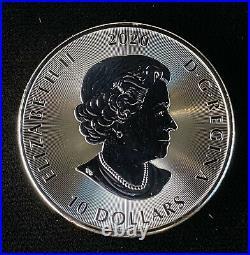2020 $10 Dollar 2 oz. 9999 Silver Canadian Kraken