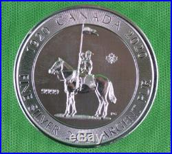 2020 2 OZ. 9999 Pure Silver RCMP King George V Royal Canadian Mint Coin