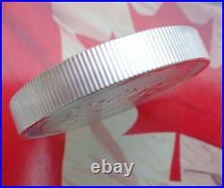 2020 2 oz. Canadian Twin Maple Leaf thick silver BU coin. 9999 ultra fine silver