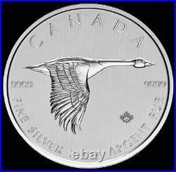 2020 2 oz Silver. 999 Fine Canada $10 Dollar Flying Goose Coin BU+