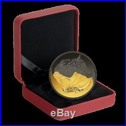 2020 Black and Gold The Canadian Horse 1 oz. Pure Silver Gold-Plated Coin