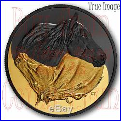 2020 Black and Gold The Canadian Horse $20 Pure Silver Gold/Rhodium-Plated Coin